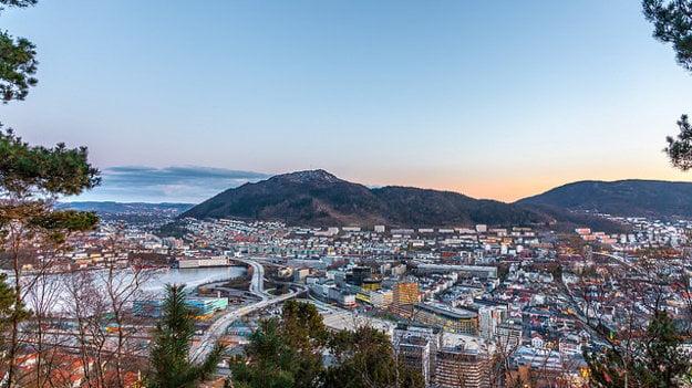 Bergen je druhé najväčšie mesto v Nórsku.