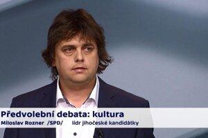 Miloš Rozner v slávnej diskusii.