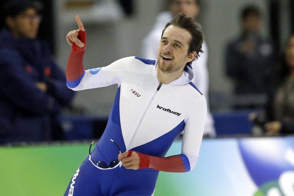 Denis Juskov tento december vylepšil na podujatí Svetového pohára v Salt Lake City svetový rekord na 1500 metrov.