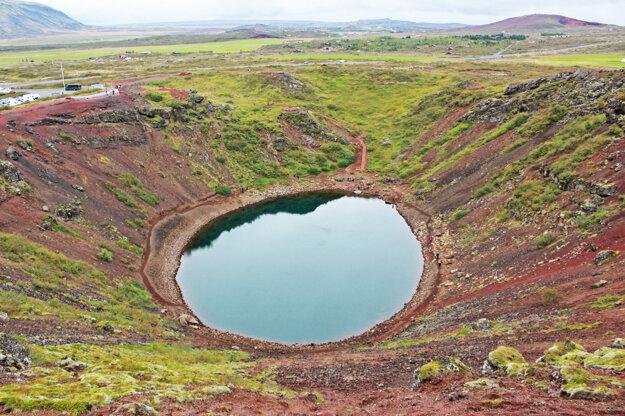 Pohľad dovnútra kráteru Kerið