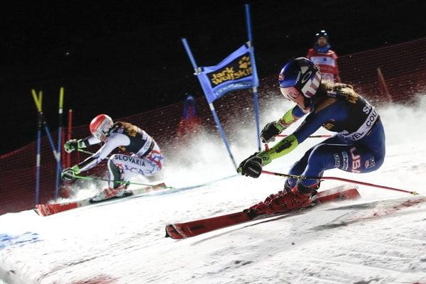 Petra Vlhová v paralelnom slalome. Ilustračná snímka.