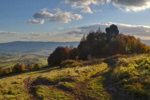 Výhľad na Melichovu skalu - Poľana