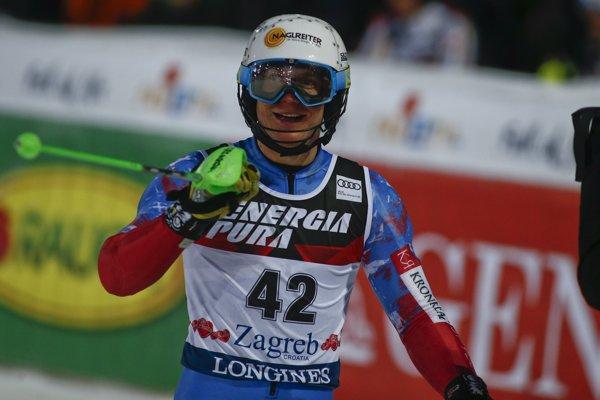 Adam Žampa bodoval v slalome v Záhrebe.