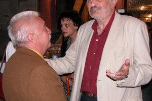 S Milanom Lasicom v bratislavskom Štúdiu L+S slávnostne uviedli knihu plnú spomienok na Júliusa Satinského.