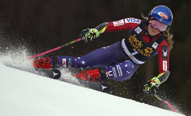 Prvé kolo obrovského slalomu v Kranjskej Gore ovládla Mikaela Shiffrinová.