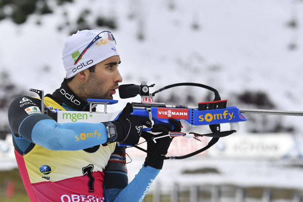 Martin Fourcade si udržal svoju pozíciu po šprinte.