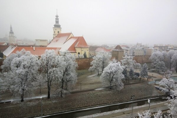 Začiatkom minulého rok pripomínala Trnava zimnú rozprávku.