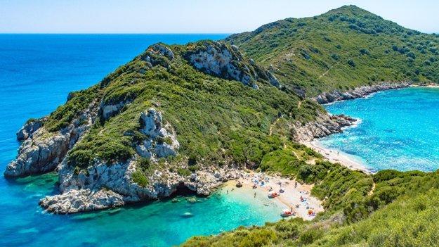 Kerkyra na ostrove Korfu