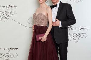 Václav Mika s partnerkou Kristínou