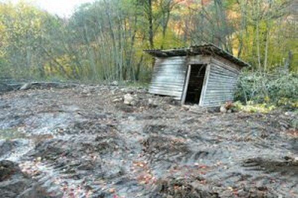 Kostru muža našli pri Hrochoti pred niekoľkými rokmi na tomto mieste.