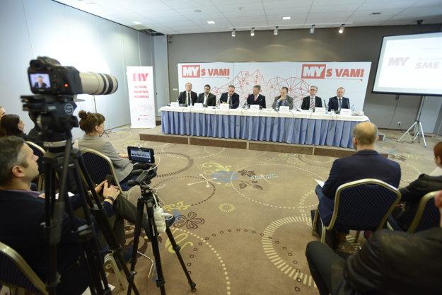 Diskusia so županom Jurajom Drobom.