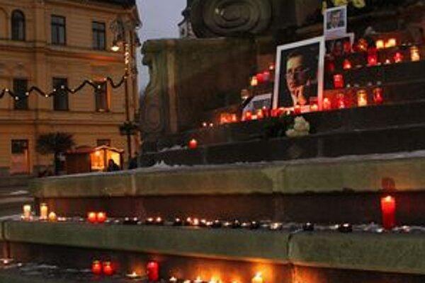 Spomienka na Václava Havla v Banskej Bystrici.