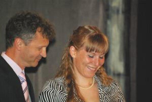Najlepšia slovenská biatlonistka Anastazia Kuzminová a Ivor Lehoťan