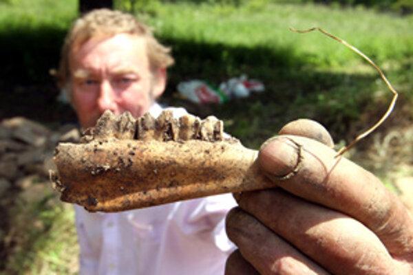 Pri rekonštrukcii základov krčmy v Kaliští narazili  na zvyšky kostí