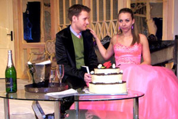 Barbora Špániková hrá nevestu, Richard Sanitra svadobného svedka.
