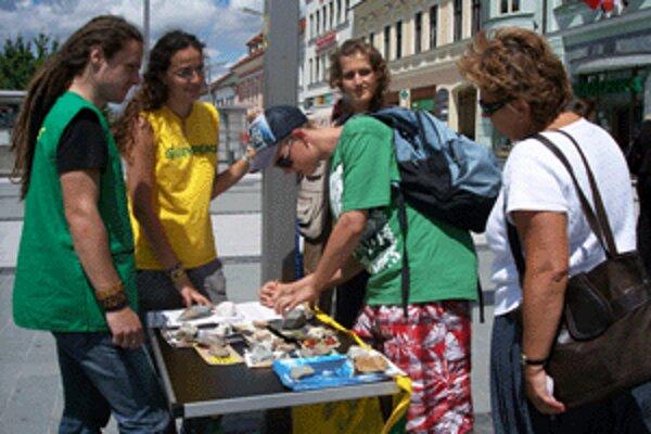 Petícia na námestí vo Zvolene.