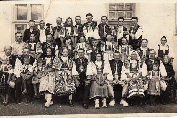 Teplanská svadba. Mária a Ondrej Švec-Koišéch (1934)