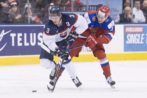 Martin Bodák (vľavo) si na prelome rokov zahral aj na svetovom šampionáte hokejistov do 20 rokov.