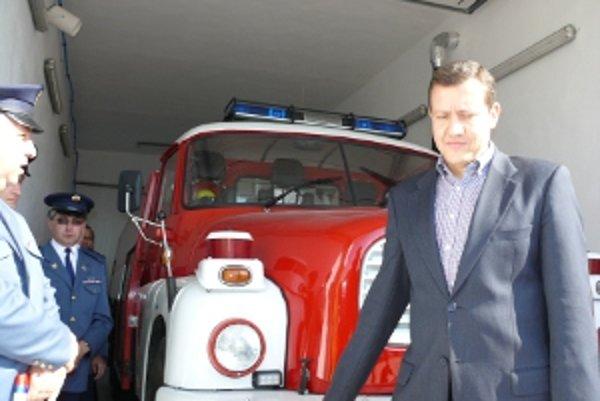 Minister vnútra Daniel Lipšic v Detve.
