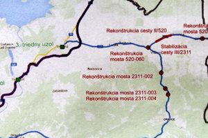 Pre tieto tri mosty bude treba dopravu z Vitanovej do Oravíc presmerovať cez Liesek, Nižnú a Zuberec.