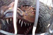 Jeden z nominovaných projektov - drak v studni v Bytči.