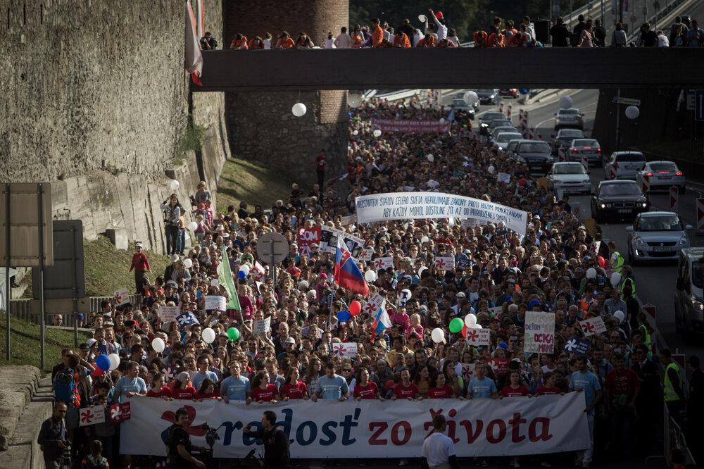 Národný pochod za život v Bratislave. (20. 9. 2015, Bratislava)