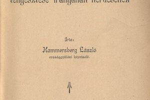 Titulný list knihy o chove koní od Lászlóa Hammersberga z roku 1911.