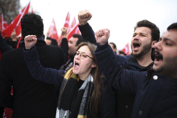 Protesty v Ankare.