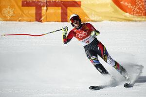 Lichtenštajnská lyžiarka Tina Weiratherová skončila tretia.