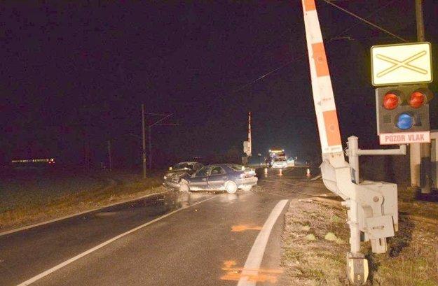 Nehoda na priecestí v Kalnej nad Hronom.