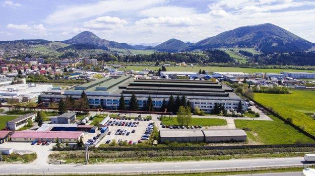 Pohľad na priemyselný park v Kysuckom Novom Meste.