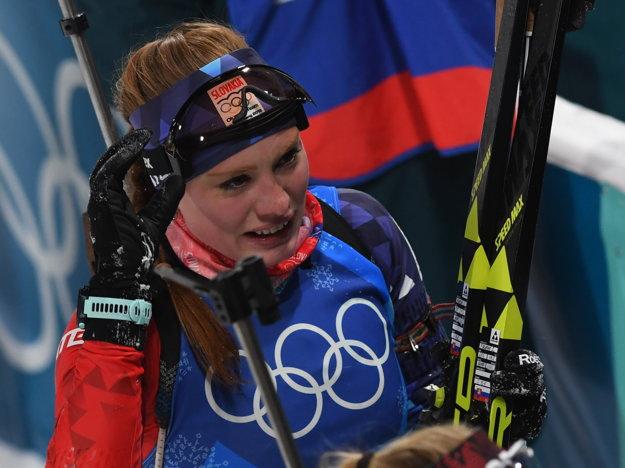 Ivona Fialková v cieli pretekov.