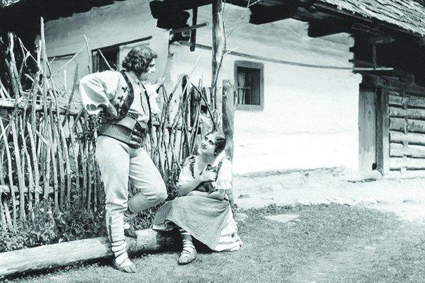 Mária Fábryová vo filme Jánošík.