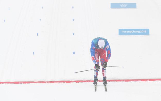 Slovenský reprezentant v behu na lyžiach Peter Mlynár počas preteku 50 km klasickou technikou.