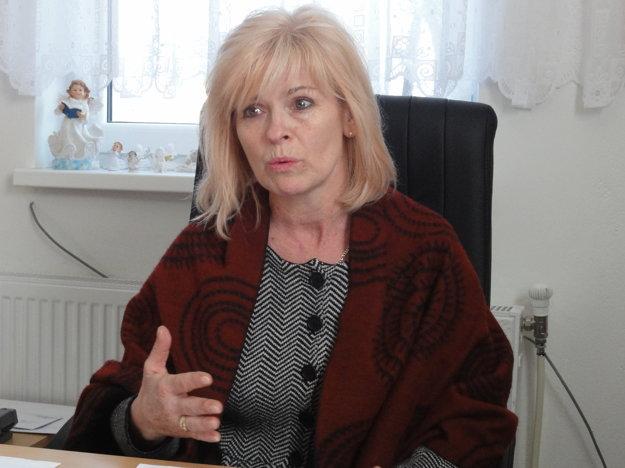 Starostka Choče Alena Záhoreczová.