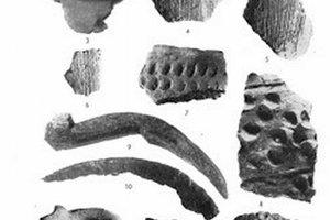Nálezy púchovskej kultúry nájdené v roku 1961 (podľa I. Hrubca). FOTO: ARCHÍV I. HRUBCA - Výskum včasnodejinného sídliska v Sučanoch