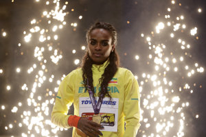 Genzebe Dibabová získala zlato v behu na 3000 metrov.
