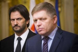 Minister Kaliňák a premiér Fico.
