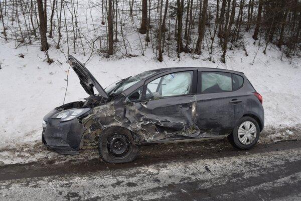 Po nehode pri Kežmarku.