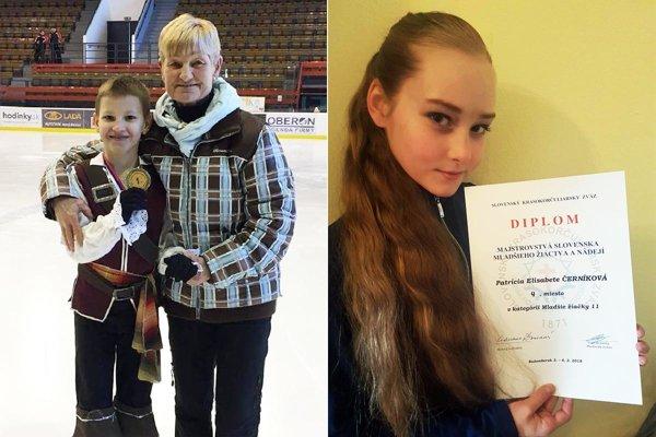Alex Války získal prvý titul majstra SR pre KKM Nitra. Vpravo Patrícia E. Černíková (HK Kraso), ktorá obsadila 4. miesto medzi mladšími žiačkami.