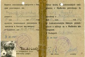 Preukaz Bratislavčana A. Frankla oslobodeného z koncentračného tábora v Birkenau.