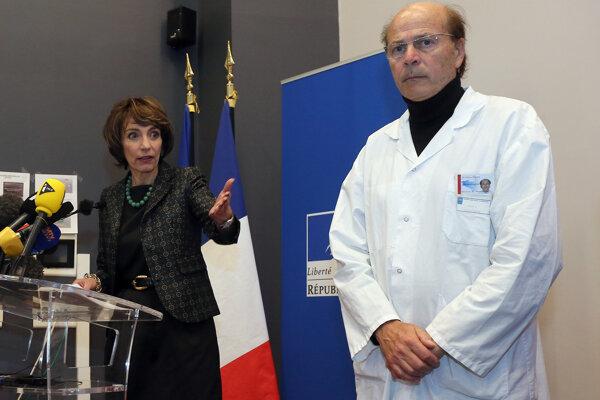 Francúzska ministerka zdravotníctva Marisol Tourainová a neurológ Gilles Edan.