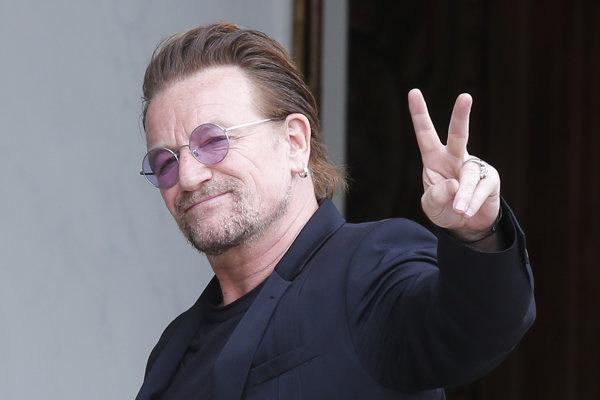 Írsky rockový spevák Bono Vox.