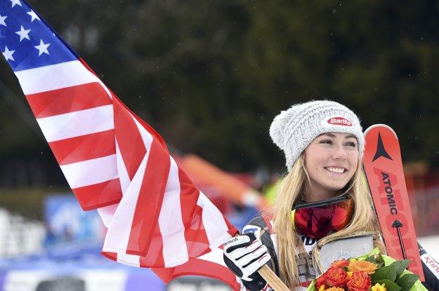 Mikaela Shifrinová sa radovala z triumfu.