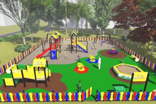 Takto by malo vyzerať detské ihrisko Žihadielko.