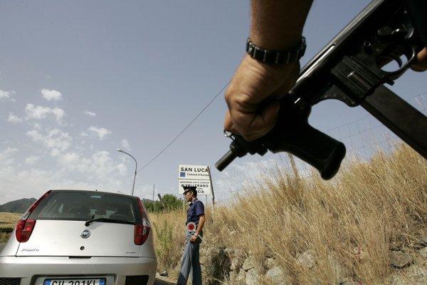 Policajná kontrola v Kalábrii. (ilustračné foto)