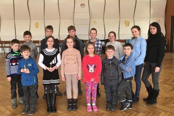 Deti zo šachového krúžku CVČ Turzovka.