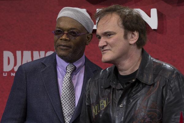 Herec Samuel L. Jackson a režisér Quentin Tarantino.