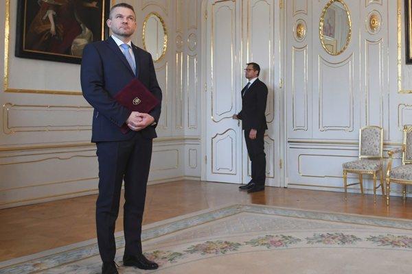 Peter Pellegrini v Prezidentskom paláci.