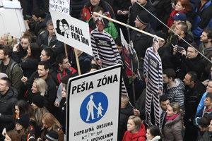 Protestné zhromaždenia Za slušné Slovensko v Bratislave.